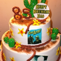 Gene Autrey Birthday Cake 85 year old man wanted a Gene Autrey Birthday Cake!