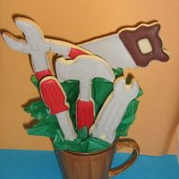 Tool Cookie Bouquet   NFSC with royal icing. TFL