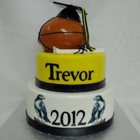 Basketball Graduation Fondant covered. All cake.