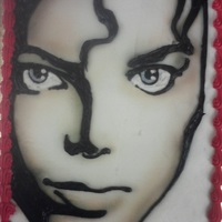 Michael Jackson buttercream, airbrush