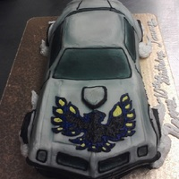 Trans Am cake, buttercream