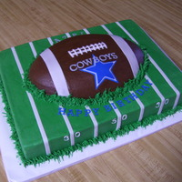 Dallas Cowboys   11 x 15 sheet cake with buttercreme and fondant accents. TFL!