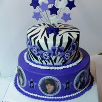 "Another Justin Bieber Cake   6"" & 9"" rds with BC finish. Accents are fondant. TFL!"