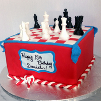 Icing Smiles Cake For A Chess Player All Edible Icing smiles cake for a chess player. All edible.