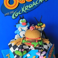 Oggy And Cockroaches Oggy and Cockroaches cake