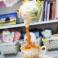 Hangging Tea Pot Cake Teapot cakeDefying Gravity cake