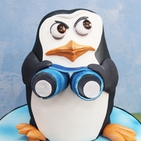 3D Penguin Cake 3D cake Choc fudge12inch in height