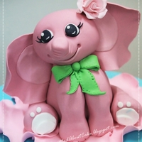 Baby Elle-Phant Cake toppers