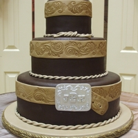 Western Wedding Cake I had so much fun making this cake! The bride brought me a picture - original design by A to Z Cakes. Belt buckle inspiration came from &#...
