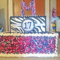 Grand Daughters Muddy Girl Camo Birthday Cake Not A Very Good Picture She Loved It   Grand daughters Muddy Girl Camo Birthday cake!! Not a very good picture! She loved it!!