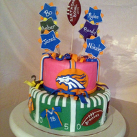 Football Fans Birthday Cake Made This For A Friend That Was Celebrating 5 Birthdays At Once Tried To Include All Their Team Favorites   Football Fans Birthday cake, made this for a friend that was celebrating 5 birthdays at once, tried to include all their team favorites