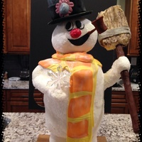 Frosty The Snowman Cake For Christmas Frosty the snowman cake for christmas
