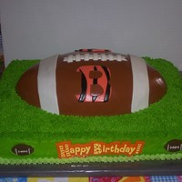 Cincinnati Bengals Cake Sheet cake is chocolate torted with chocolate strawberry ganache and covered with buttercream. Football is chocolate covered with chocolate...