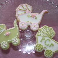 Baby Shower For Peyton NFSC, WITH ROYAL ICIING.....COLORS WERE TO MATCH COLORS IN TABLE WARE.MADE OVER 130 COOKIES ! TFL