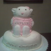 Hello Kitty One of the most challenging 3D cakes I have done......that kitty has a big ol' head!!!!