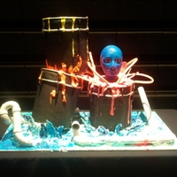 Blue Man Group This is a huge cake we constructed for the showing of the Blue man Group!