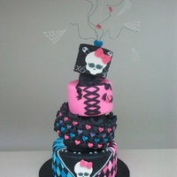 Monster High This Cake was so much fun to create from the draft on paper to the end result!