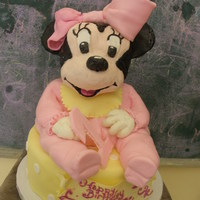 Minnie Mouse   Minnie Mouse first birthday cake