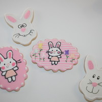 Easter Cookies Lemon sugar cookies with royal icing.