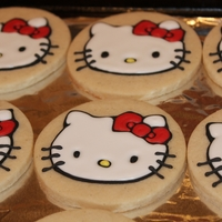 Hello Kitty Cookies vanilla sugar cookie with Royal icing