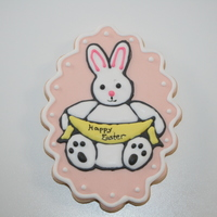 Easter Bunny Lemon sugar cookie with royal icing.