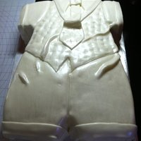 Baptism Outfit mmf out of a 11x15 cake