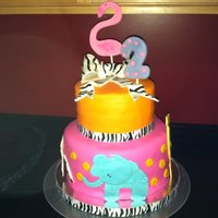 Zoo hand made half fondant and half gumpaste animals. fondant covered