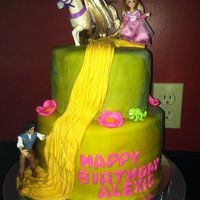 "Tangled Repunzel 6"" 8"" fondant"