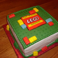 Lego Cake This cake is DDCSC and filled with chocolate fudge. It's frosted with buttercream and the top is fondant. I was inspired by several...