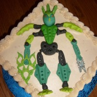 Bionicle Lego The client found a pic of a cake like this and I had NEVER heard of Bionicle Legos, so I had to go shopping to check it out...boy have...