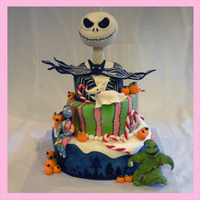 Nightmare Before Christmas This is a cake I made for this past Halloween. All the characters are hand sculpted. Jack Skellington and Oogie Boogie are sculpted in rice...
