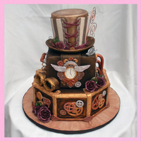 Steampunk Wedding Cake I have wanted to do a Steampunk cake for awhile. Here is my interpretation of a Steampunk wedding cake.