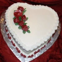 Red Roses Heart Shaped Cake Red Roses heart shaped cake