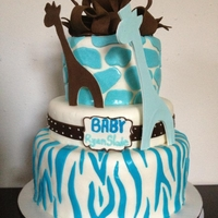 Carter's Blue Safari Cake