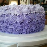 "Birthday Cake 9"" round with Buttercream frosting. Thanks for looking!"