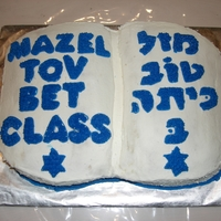 Bet Class Shabbat The Bet Class at our synagogue was honored. It is supposed to be in the shape of a siddur (Prayer book). The translation of the Hebrew is...