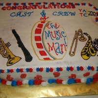 The Music Man Show I made this cake for a cast party of a community theatre show that my daughter was in. It is supposed to be in the shape of the state of...