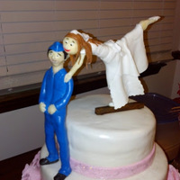 Wedding Cake For An Air Force Mechanic And His Gymnast Bride Wedding Cake for an Air force Mechanic and his Gymnast Bride