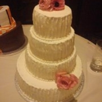 Ivory Wedding Cake I hated this cake while making it but in the end I thought it really came together nicely