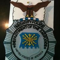 Sculpted Badge Cake For Air Force Security Forces Cake Is Sculpted And Covered With Fondant Bald Eagle Is Fondant And Hand Painted As Wel sculpted badge cake for Air Force Security Forces , Cake is sculpted and covered with fondant. Bald eagle is fondant and hand painted as...