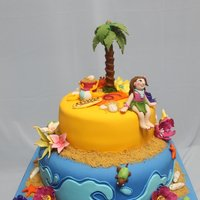 Luau Theme Cake   A luau theme cake to match the birthday theme of sweet Lauren!. I hope you enjoy it.