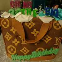 Lv Bag Thank you to all my friends on cakecentral for giving me tips on how to make my very 1st cake bag...still need lots improvement....Everyone...