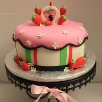 Strawberry Theme Cake
