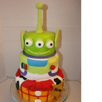Toy Story Character Cake