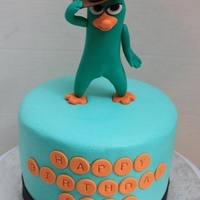 Perry Platypus Cake