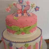 Pastel Butterfly Baby Shower Cake
