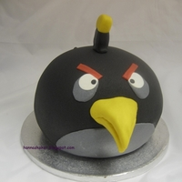 Black Angry Birds Cake My first Angry Bird:-)