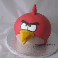 Red Angry Birds Cake So fun to make!