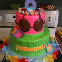 Hula Birthday Cake