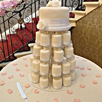 Ivory Mini Cakes Mini cake tower